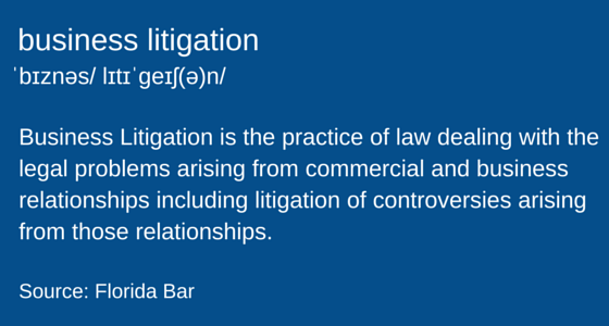 Definition-of-Business-litigation