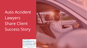 auto accident lawyers share client success story