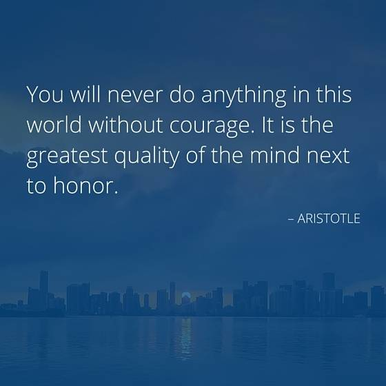 Aristotle quote about courage