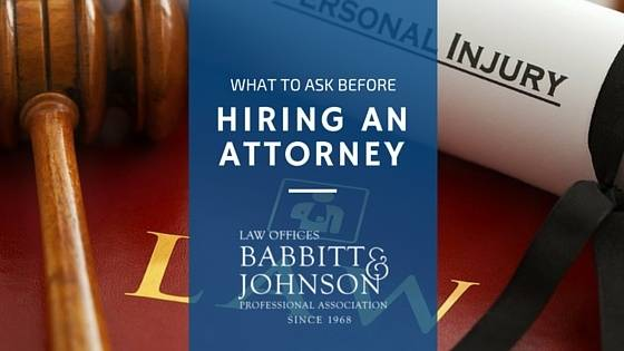 Questions to ask when hiring a lawyer