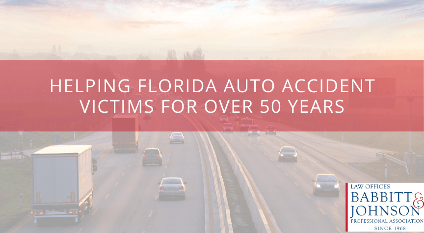 Helping Florida Auto Accident Victims for Over 50 Years