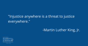 Injustice anywhere is a threat to justice everywhere-mlk