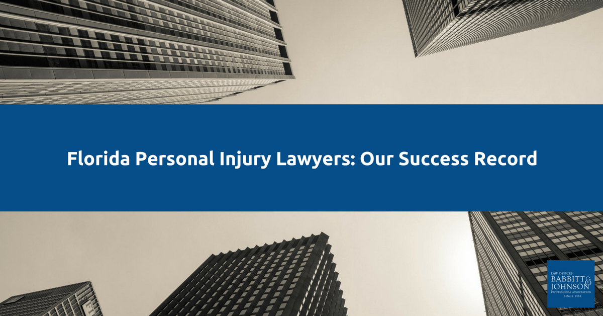 Florida Personal Injury Lawyers: Our Success Record