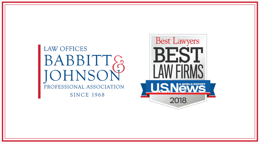 "Babbitt & Johnson Makes the 2018 ""Best Law Firms"" List"