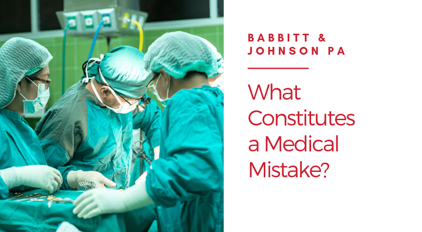 What Constitutes a Medical Mistake?