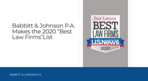 """Babbitt-Johnson-P.A.-Makes-the-202-""""Best-Law-Firms""""-List"""