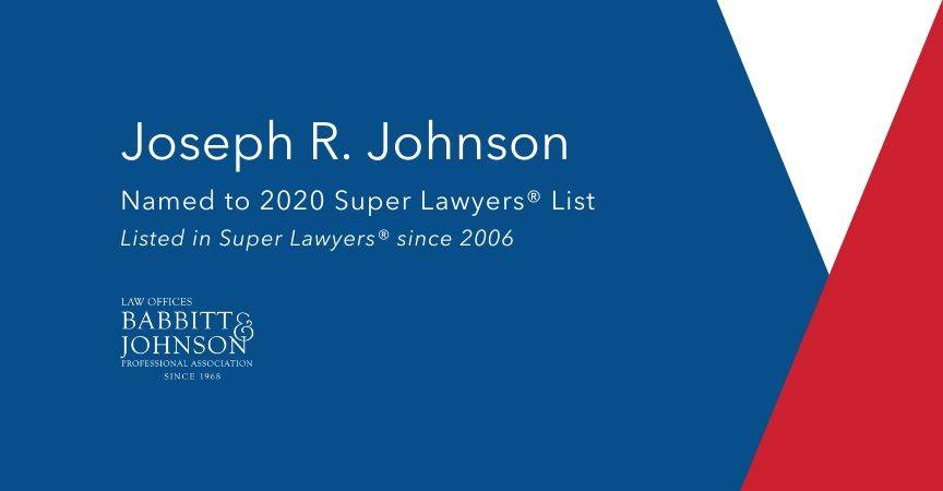 Joseph R. Johnson Named to 2020 Super Lawyers® List