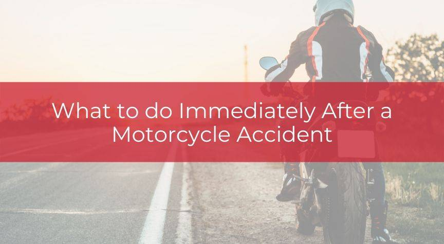 What to do Immediately After a Motorcycle Accident