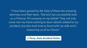 j perry auto accident victim review