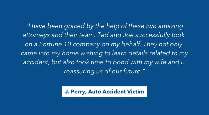 Personal Injury Client Testimonial