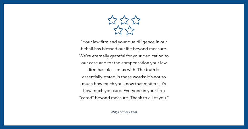 Client Testimonial for Babbitt & Johnson Law Offices