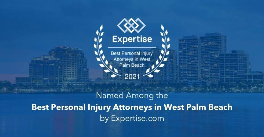 Named 2021 Best Personal Injury Attorneys in West Palm Beach by Expertise.com